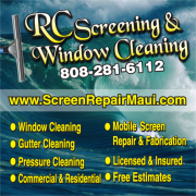 Maui Screen repair and window cleaning